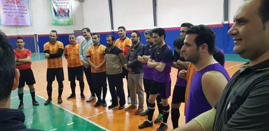 فینال مسابقات فوتسال بهزیستی گیلان به مناسبت گرامیداشت ایام الله دهه مبارک فجر و یاد و خاطره سردار شهید سپهبد سلیمانی
