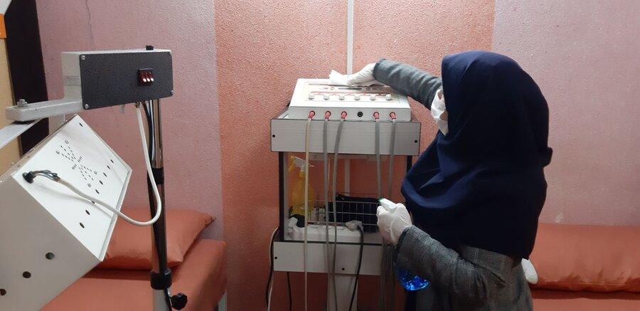گند زدایی و ضدعفونی کردن مراکز همدان