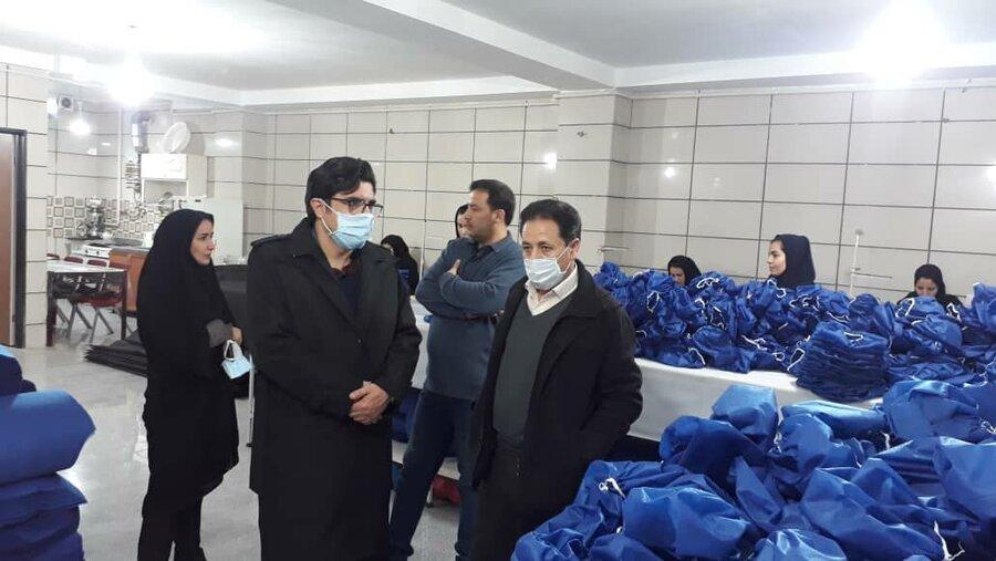 گزارش تصویری | تولید وسایل بهداشتی توسط موسسه تحت نظارت بهزیستی استان زنجان