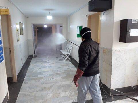 گزارش تصویری| ضد عفونی نمودن تمامی مراکز بهزیستی و ادارات استان البرز