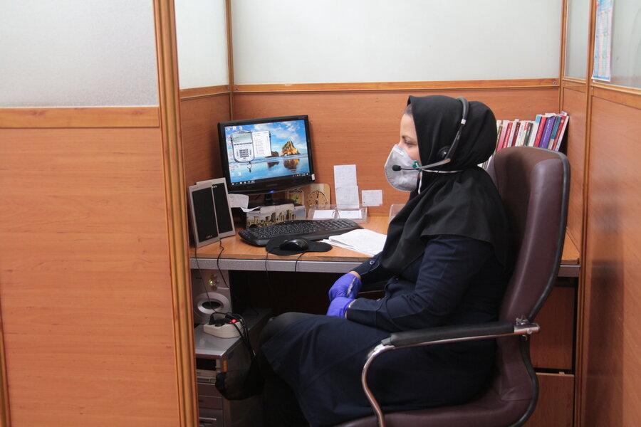 گزارش تصویری ا خدمتی دیگر از خط 1480 ، ارائه خدمات مشاوره تلفنی رایگان بمنظور کاهش استرس ناشی از شیوع ویروس کرونا
