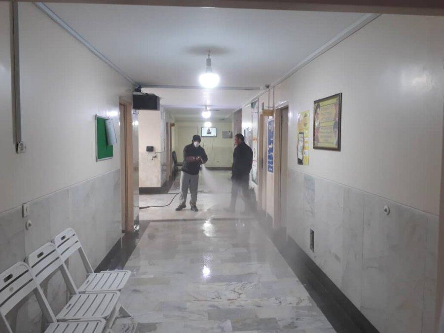 گزارش تصویری| ضد عفونی کردن تمامی مراکز بهزیستی و ادارات استان البرز