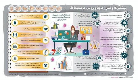 اینفوگرافیک | پیشگیری و کنترل ویروس کرونا در محیط کار