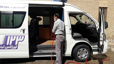 گزارش تصویری ا ضد عفونی روزانه محیط اداری و ماشین آلات اداره بهزیستی شهرستان شاهرود