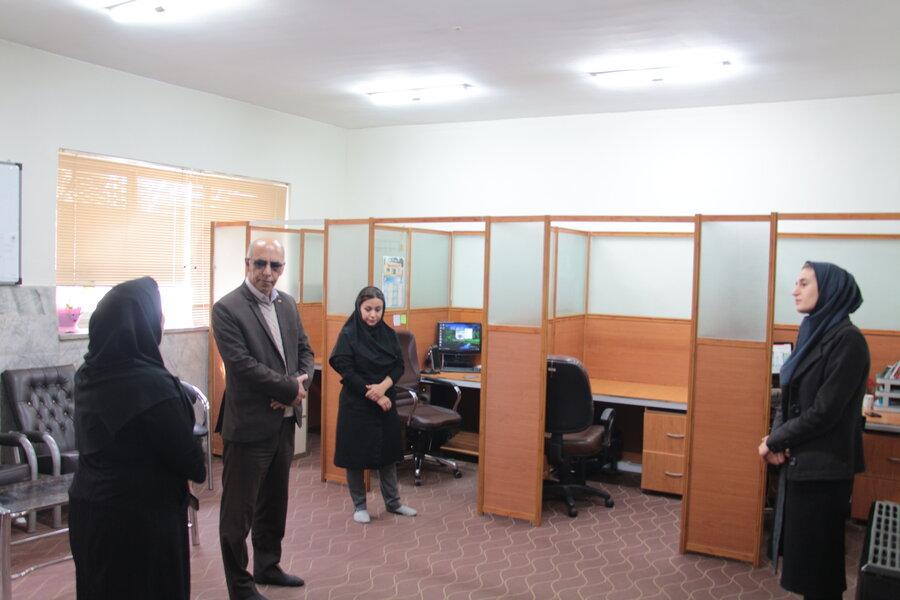 بازدید و دیدار مدیرکل از سامانه مشاوره تلفنی ۱۴۸۰