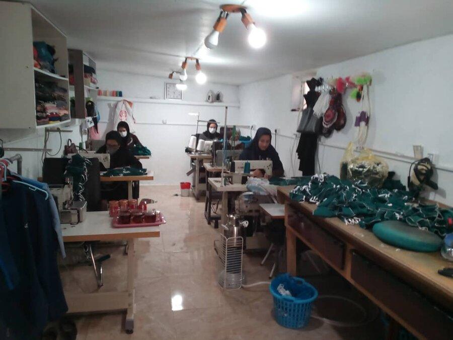 تولید ماسک توسط گروه های همیار ایوان