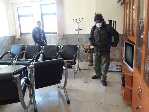 اجرای عملیات گندزدایی و ضدعفونی در اداره بهزیستی بیجار