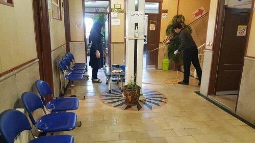 گزارش تصویری|ضد عفونی کردن اداره بهزیستی شهرستان هشترود از توابع استان   آذربایجان  شرقی جهت پیشگیری از شیوع بیماری کووید 19