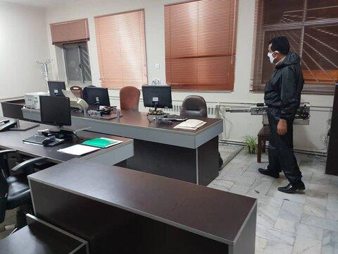 گزارش تصویری ا ضدعفونی ستاد و اداره پذیرش و هماهنگی گروه هدف اداره کل بهزیستی استان سمنان