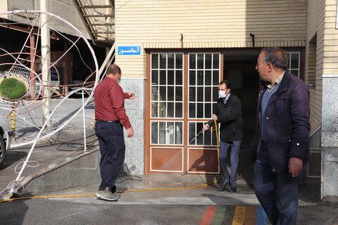ضدعفونی کردن اداره کل بهزیستی استان