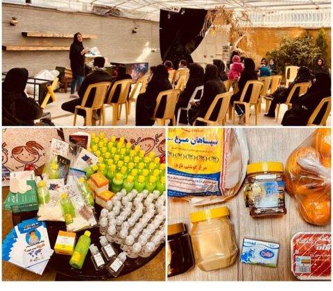 اهدای پک های بهداشتی و خوراکی به خانوادههای کودکان کار