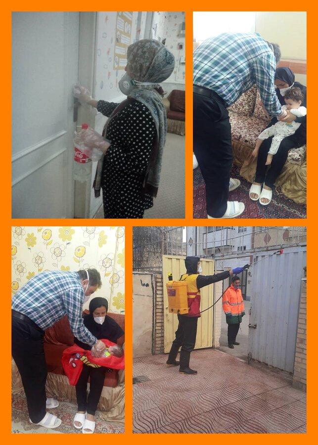 ضد عفونی خانه های نگهداری کودکان و شیرخوارگاه علی اصغر (ع) اردبیل