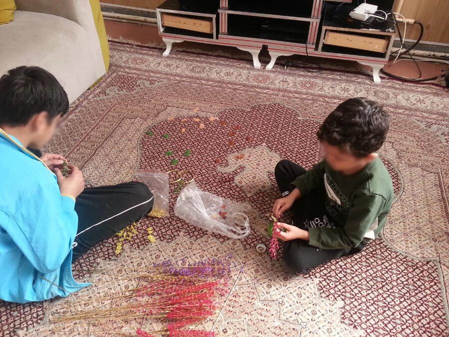 مقابله با کووید19 همراه با ارتقاء نشاط و شادابی در بین خانه های کودک بهزیستی