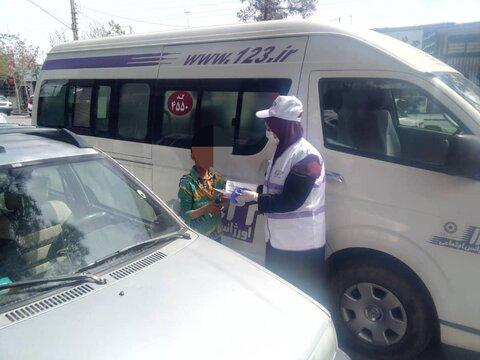 گزارش تصویری|توزیع بسته های بهداشتی بین کودکان کار و خیابان
