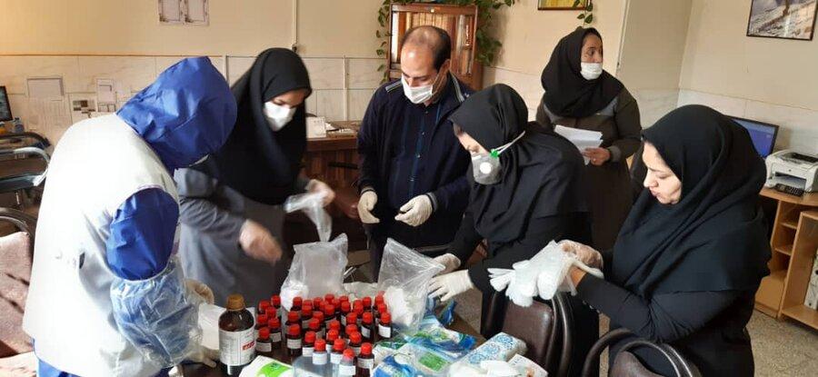 تیم های اورژانس اجتماعی کرمان بسته های بهداشتی را بین کودکان کار و خیابان توزیع کردند