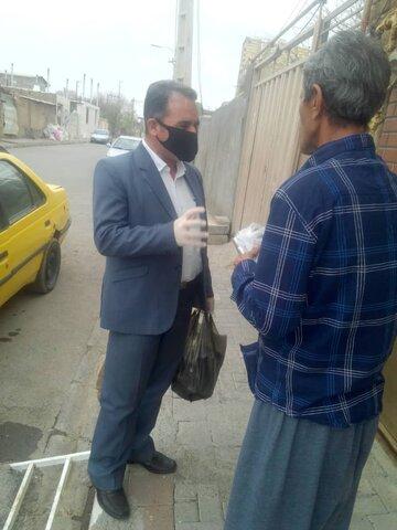 تهیه و توزیع ۳۲۰ پک بهداشتی در سطح روستای صحت آباد و مرادتپه شهرستان اشتهارد