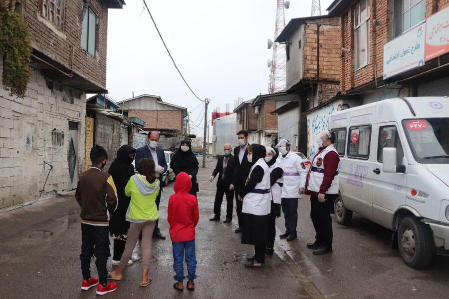بازدید معاون اجتماعی بهزیستی مازندران از مناطق تحت آسیب آمل