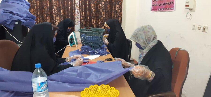 گزارش تصویری|تولید ماسک و دستکش توسط زنان سرپرست خانوار تحت پوشش دشت آزادگان