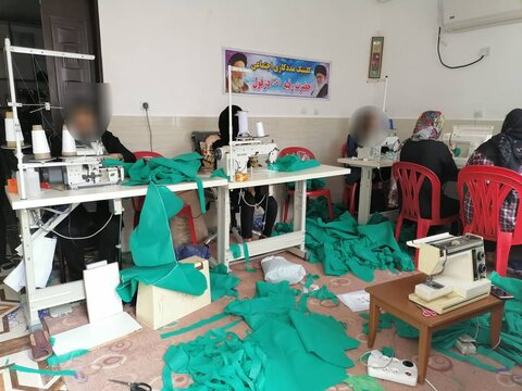 دزفول|تولید یک هزار دست لباس بیمارستانی توسط گروه همیار زنان سرپرست خانوار
