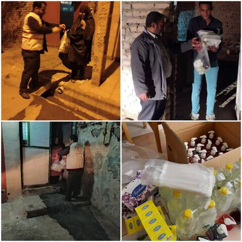 توزیع بسته های بهداشتی و غذای گرم توسط همیاران بهزیستی  شهرستان بیرجند