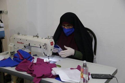 بازدید مدیر کل بهزیستی مازندران از کارگاه تولید ماسک و البسه بیمارستان