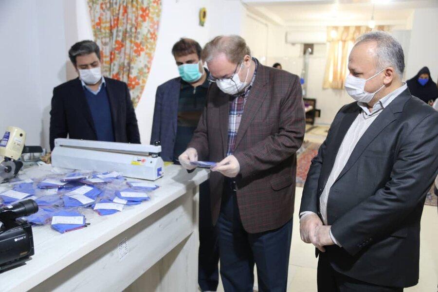 گزارش تصویری | بازدید مدیر کل بهزیستی مازندران از کارگاه تولید ماسک و البسه بیمارستانی انجمن معلولین ضایعه نخاعی تحت نظارت بهزیستی استان مازندران