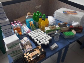 توزیع اقلام بهداشتی و ضدعفونی در بین کارتن خواب ها و پاتوق های معتادین به منظور پیشگیری از ابتلا به ویروس کرونا