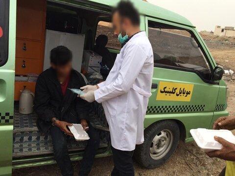 گزارش تصویری| اقدامات مدافعان سلامت (مراکز کاهش آسیب) در مناطق آسیب زا