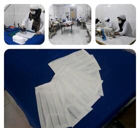 آبادان| روزانه هزار ماسک و ۵۰۰ گان توسط زنان سرپرست خانوار  تولید می شود