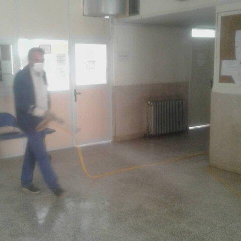 گزارش تصویری/ توزیع اقلام بهداشتی و ضدعفونی کردن اورژانس اجتماعی