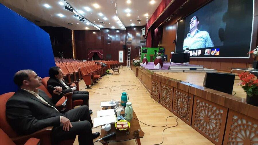 گزارش تصویری | نشست خبری مدیر کل بهزیستی با اصحاب رسانه به صورت ویدیو کنفرانس در سالن همایش های بین المللی روزبه