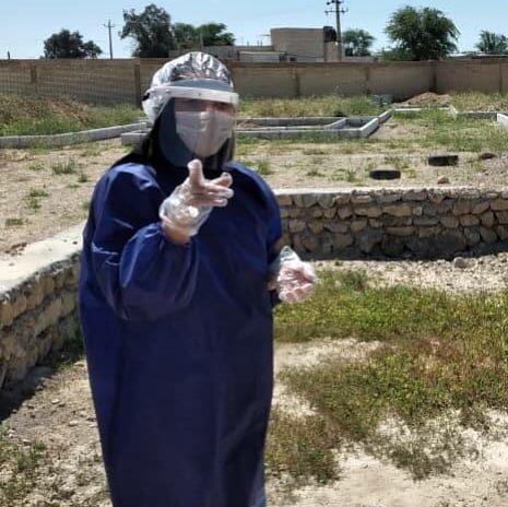 دهلران/ گزارش تصویری/ضد عفونی و توزیع اقلام بهداشتی بین افراد بی خانمان
