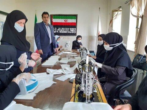 گیلانغرب|راه اندازی کارگاه تولیدی ماسک و دستکش یکبار مصرف در بهزیستی گیلانغرب