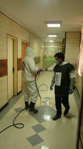 پدافند غیر عامل | مانور سالم سازی محیط کار و ضدعفونی اداره کل