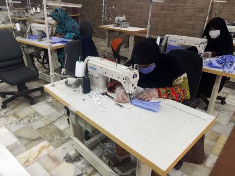 تولید روزانه بیشاز یکهزار عدد ماسک در ایرانشهر