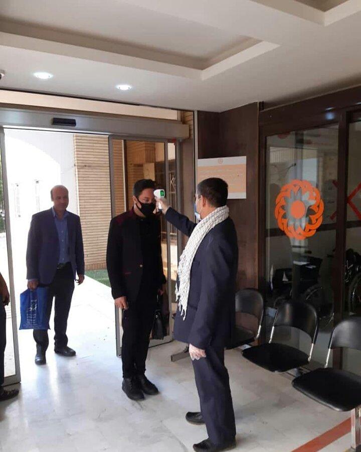 گزارش تصویری | تب سنجی کارکنان ستاد  بهزیستی استان یزد