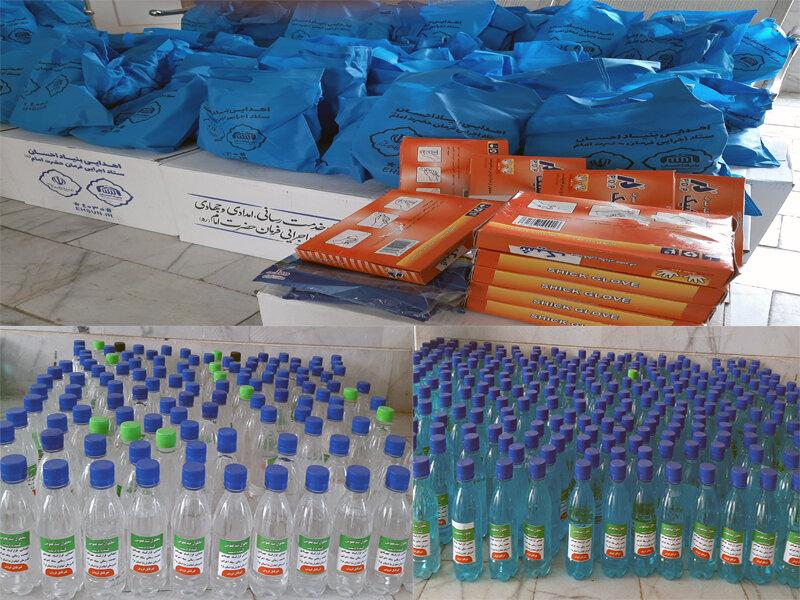 بهاباد | توزیع بسته های بهداشتی مقابله با ویروس کرونا بین مددجویان بهزیستی