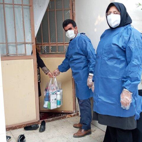 گزارش تصویری توزیع اقلام بهداشتی