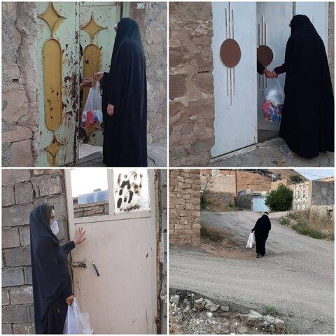 مسجد سلیمان|توزیع پک های بهداشتی  بین مددجویان بهزیستی
