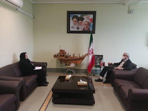 جلسه  سرپرست مدیریت بهزیستی شهرستان با فرمانداربوشهر برگزار شد