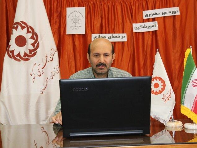 اولین دوره آموزشگری در فضای مجازی ویژه تسهیلگران همیار سلامت روان اجتماعی استان برگزار شد