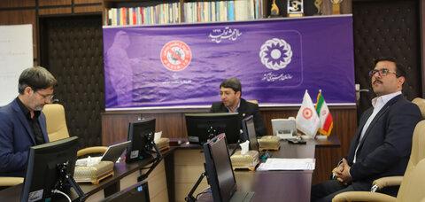 ویدیو کنفرانس دکتر قبادی دانا با مراکز در مورد  مثبت زندگی