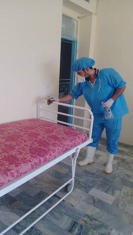 گزارش تصویری آماده سازی مرکز قرنطینه جهت پذیرش معتادین متجاهر