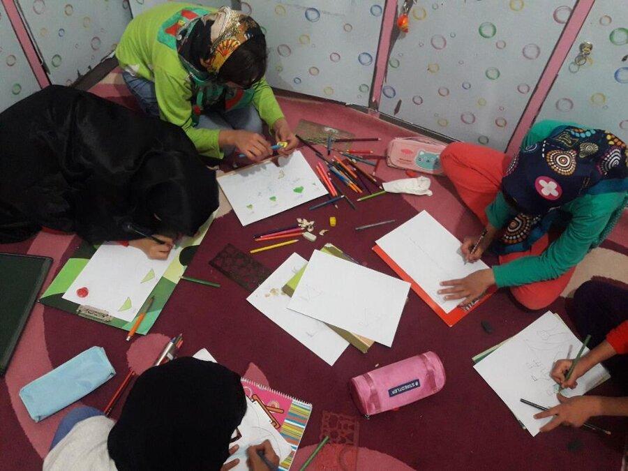 گزارش تصویری ا حال و هوای کودکان مرکز آمنه