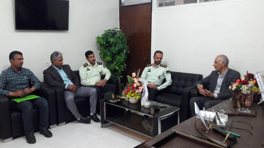 شاهرود | نشست مشترک فرماندهی نیروی انتظامی شهرستان با معاون مدیرکل و رئیس اداره بهزیستی