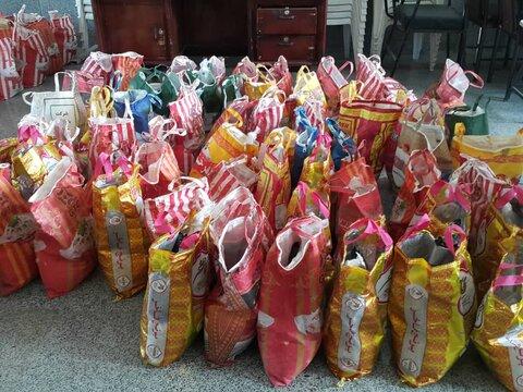 لنجان| توزیع 350 بسته مواد غذایی در پویش همدلی مومنانه