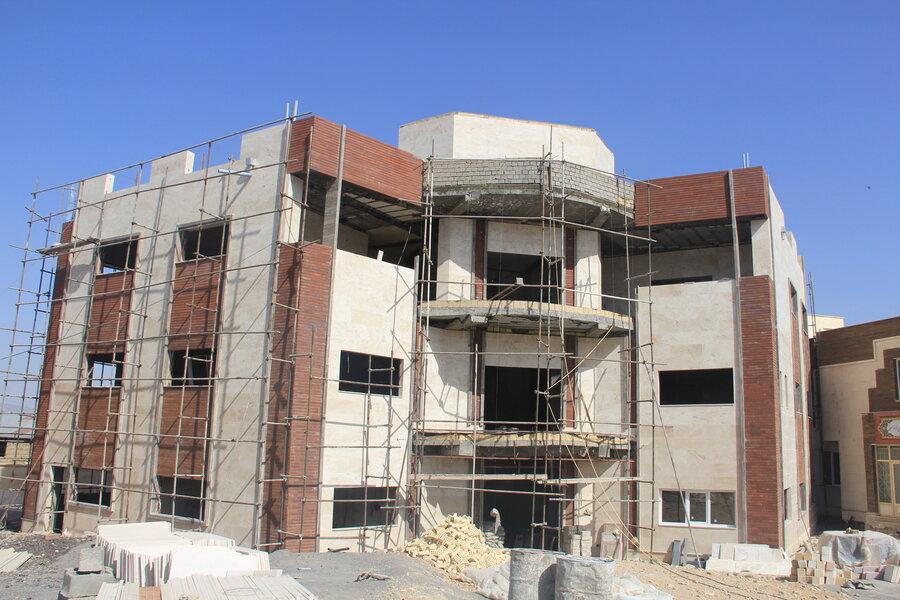 گزارش تصویری روند احداث نخستین ساختمان پایگاه خدمات اجتماعی در ایلام