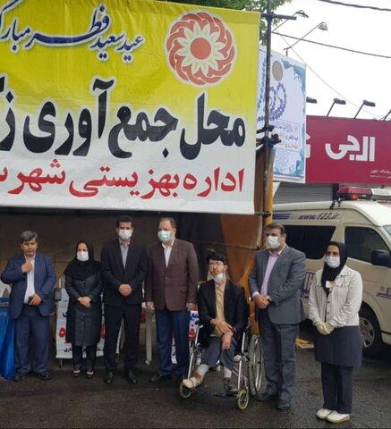 ساری | بازدید مدیر کل بهزیستی مازندران از پایگاه های جمع آوری زکات فطره