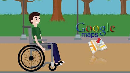 نقشه گوگل به کمک افراد معلول میآید/نمایش مسیرهای ویژه معلولان روی نقشه + فیلم