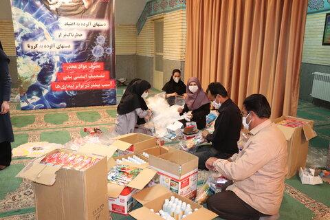 آماده سازی بیش از 1500 بسته اقلام بهداشتی جهت توزیع بین مخاطبین طرح پازک
